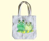 bag,frog tote bag,tote bag,animal tote bag,animal tote,frog,frog lover,frog love,cute tote bag,funny tote bag,notebook tote bag,school tote bag