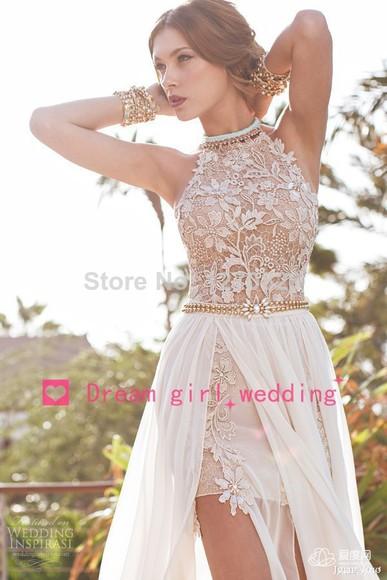 beige dress long dress with train lace dress chiffon long dress chiffon long evening dress chiffon long prom dresses 2014