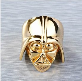 Darth vader  ring ( size 9, gold plated)
