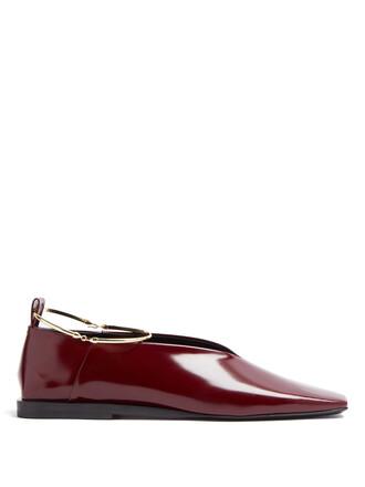 high ballet flats ballet flats burgundy shoes
