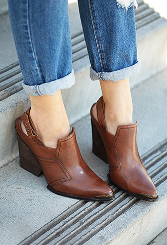Rustic Slingback Booties | FOREVER21 - 2000111422