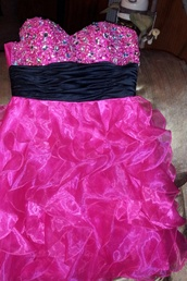 dress,pink,sparkle,bedazzled,ruffle