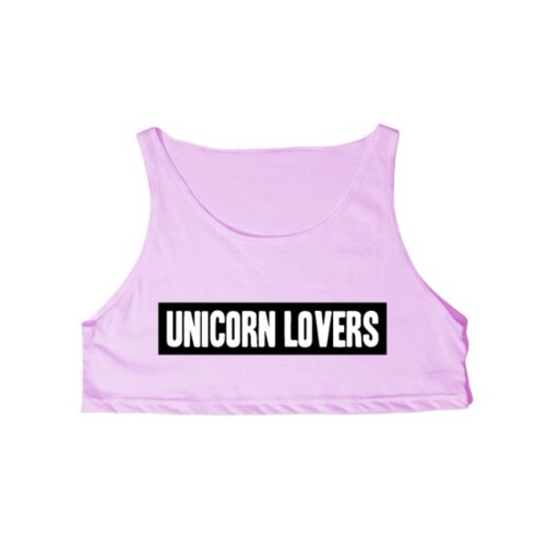 blouse crop tops unicorn purple