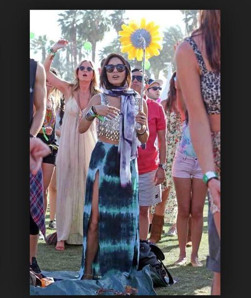 skirt vanessa hudgens boho hippie tie dye