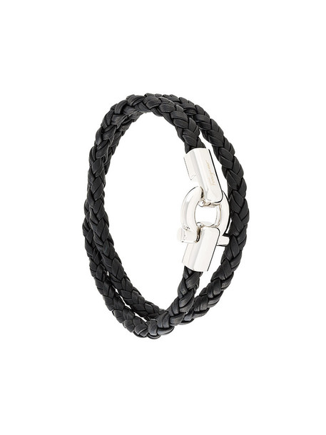 Salvatore Ferragamo women leather black jewels