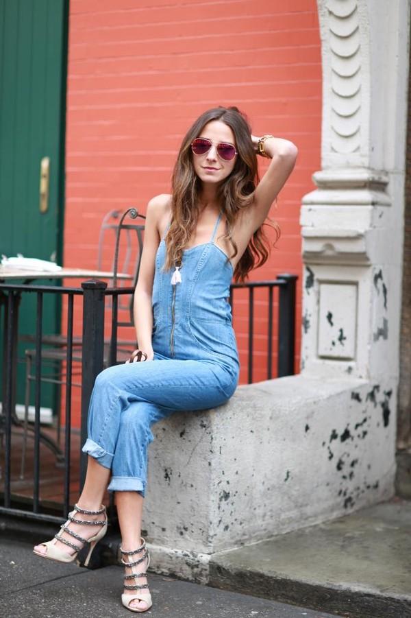 something navy pants bag shoes sunglasses