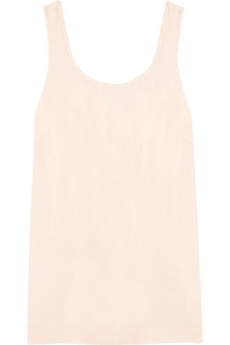 top back open silk white off-white