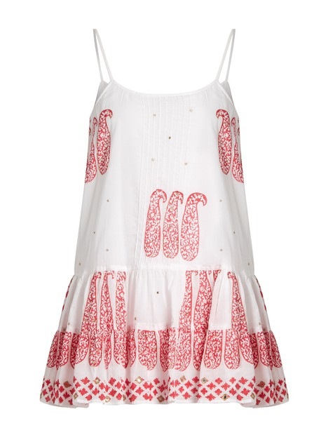 Juliet Dunn dress cotton print paisley white