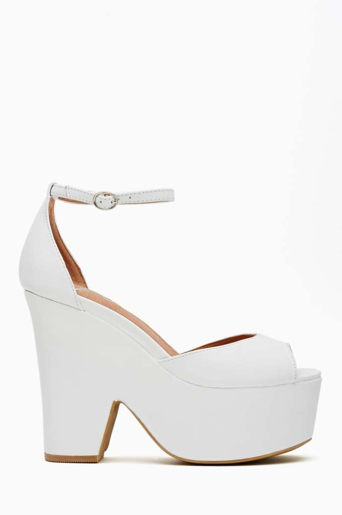 Jeffrey Campbell Brazen Platform - White  in  Shoes at Nasty Gal