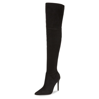 shoes overknee boots boots suede suede boots fashion style trendy high heels heels fsjshoes