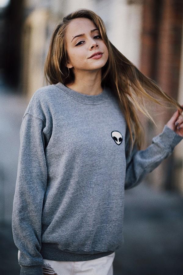 Erica alien patch sweatshirt