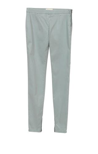 Pantalon slim 7/8 avec zips femme