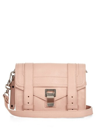 cross mini bag leather light pink light pink