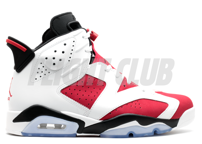 "air jordan 6 retro ""carmine"" - white/carmine-black - Air Jordans  