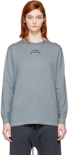 A-cold-wall* t-shirt shirt t-shirt long grey top