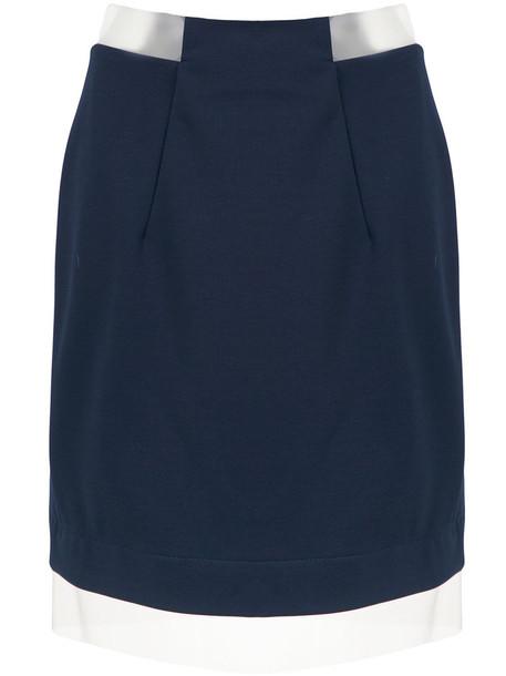 Gloria Coelho skirt sheer women spandex blue