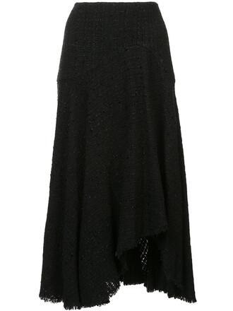 skirt knitted skirt women cotton black wool