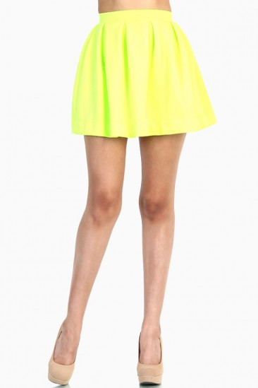 LoveMelrose.com From Harry & Molly | NEON YEllow SKIRT