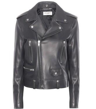 jacket leather jacket classic leather grey