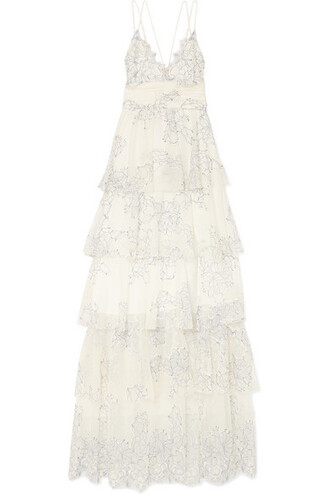 gown love lace cream dress