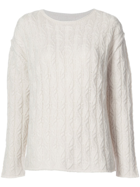 Nili Lotan - cable knit sweater - women - Cashmere - XS, Nude/Neutrals, Cashmere