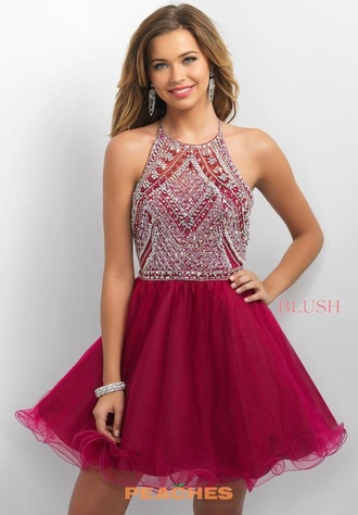dress burgundy cute blingy homecoming dress