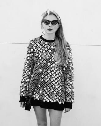 sweater silver sweater sequins silver silver sequins oversized sweater black sweater silver and black
