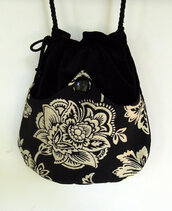 bag,black,white,flowers,girl,women sack,clothes,crossover,cross body,women shoulder bags