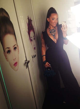 dress black black dress longue jupe decolt jumpsuit combinaison
