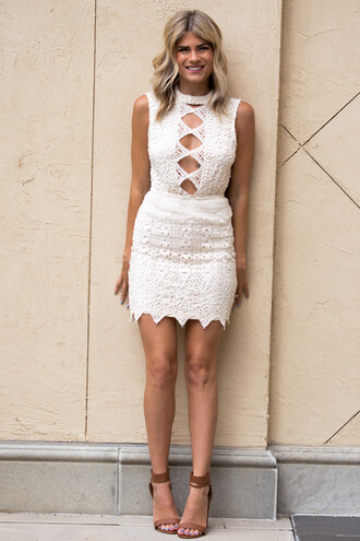 dress crochet crochet dress sexy sexy dress neutral heels style fashion ootd summer dress fall outfits fall dress open back open back dresses mini dress bodycon dress babe cute cute dress