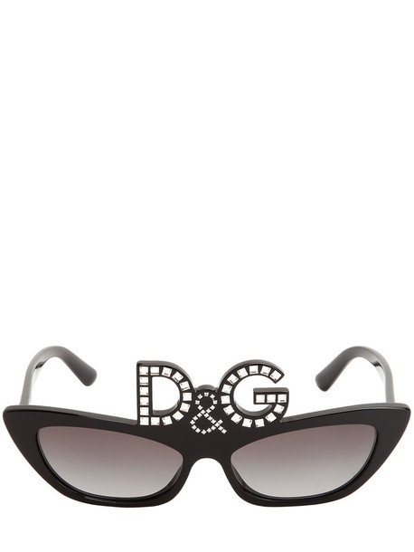 DOLCE & GABBANA D & g Studded Acetate Sunglasses in black