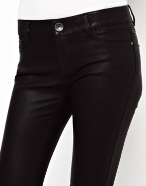 Esprit | Esprit Leather Look Skinny Trouser at ASOS