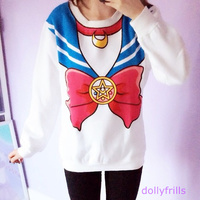 Xl size}sailor moon sweater jumper pullover free ship sp130203 · spreepicky · online store powered by storenvy