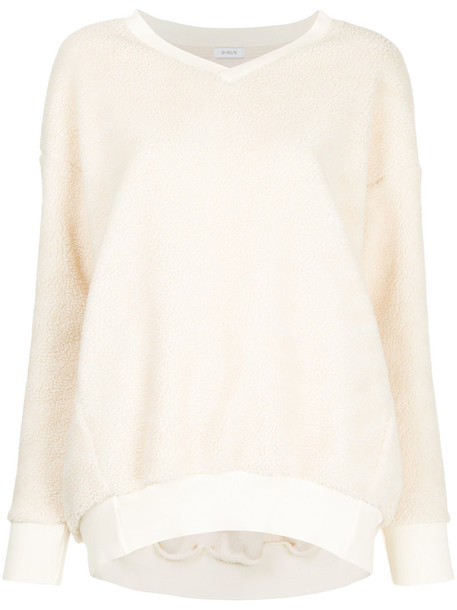 En Route - v-neck pullover - women - Polyester - One Size, White, Polyester
