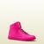 Gucci - basket coda en cuir rose fluo 323812DBL505616