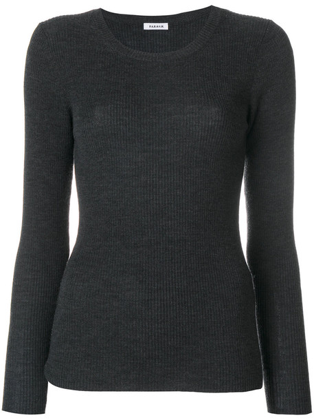 sweater women wool knit grey