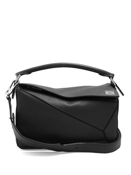 LOEWE cross bag leather black