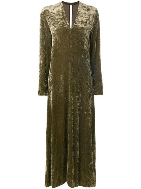 dress maxi dress maxi women silk velvet green