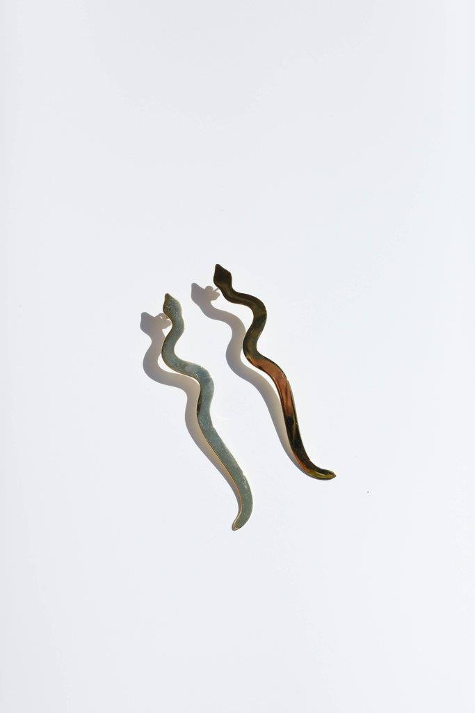 Serpiente Earring - Gold