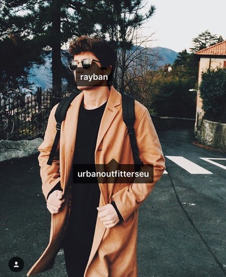coat menswear winter outfits fall outfits beige coat