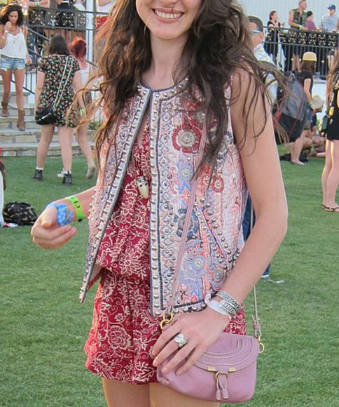 isabel marant jacket coachella ethnic print vest beaded
