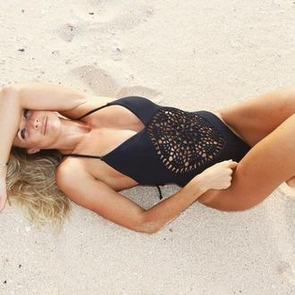 swimwear frankies bikini black swimwear one piece swimsuit boho