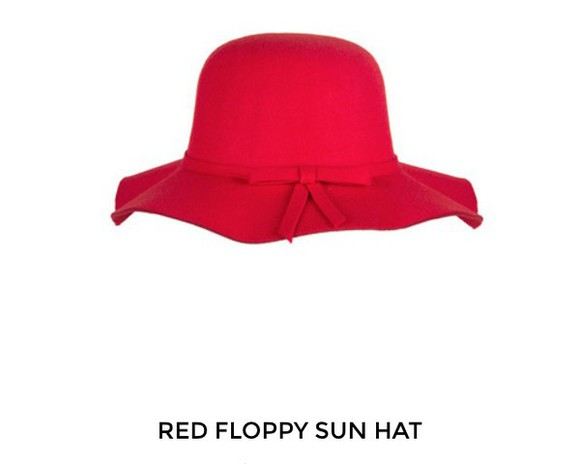 floppy hat red hat
