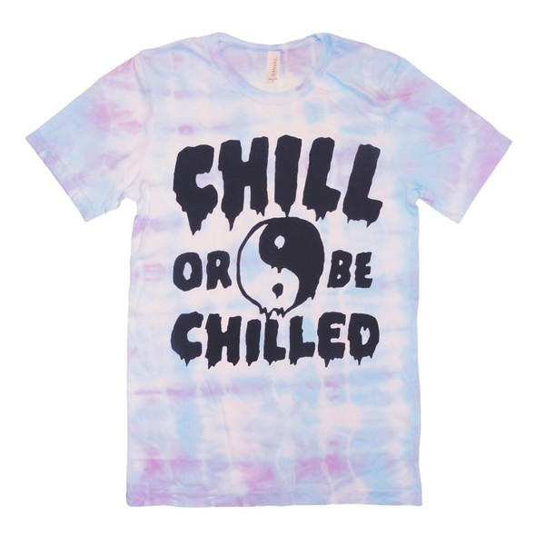 t-shirt tie dye yin yang chill out tank top tumblr