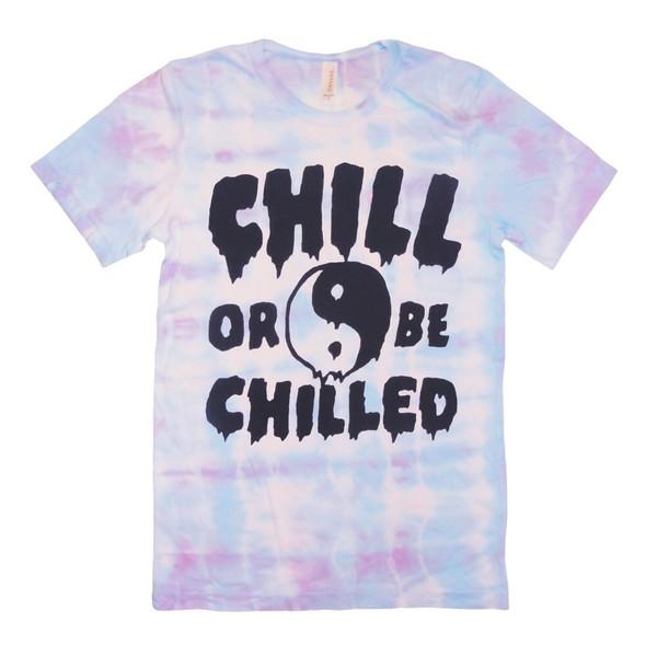 t-shirt tie dye yin yang chill out tank top tumblr