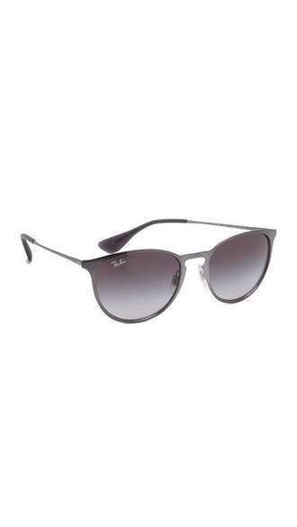 metallic sunglasses round sunglasses grey