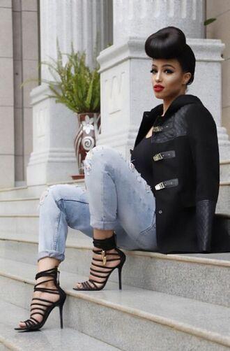 shoes jeans jacket sandals black jacket strap up shoes