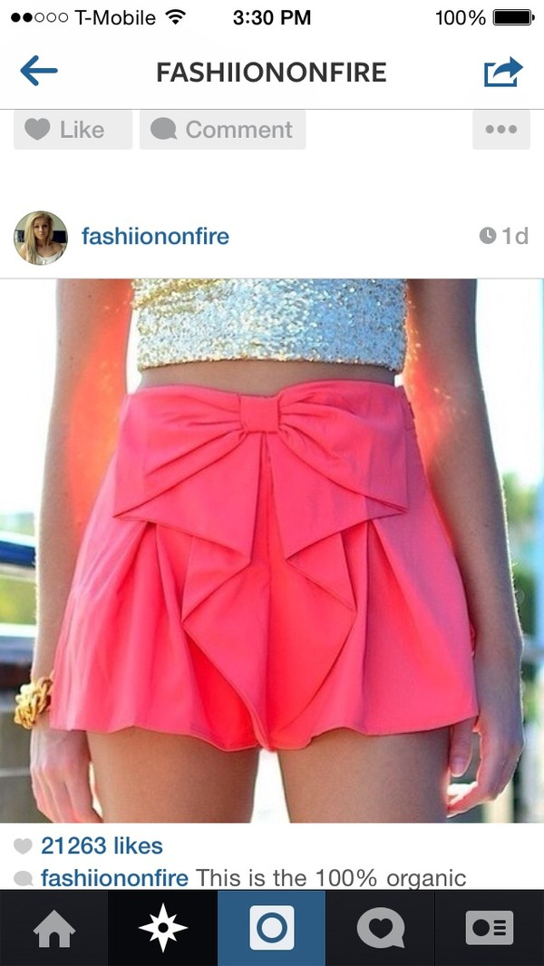 skirt bow pink sparkle spring summer cute