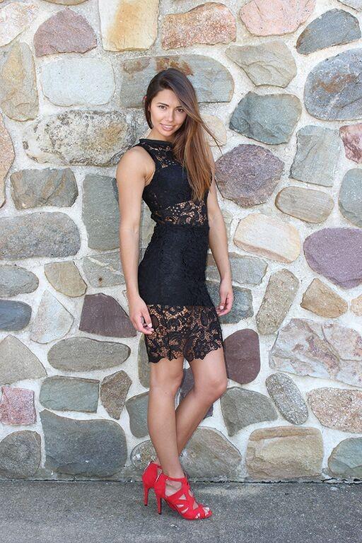 Melody Black Lace Dress