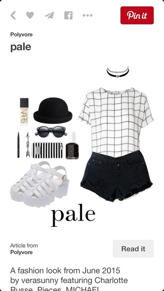 shirt t-shirt checkered black and white white t-shirt white top top crop tops white crop tops crop pale soft grunge grunge hat shoes